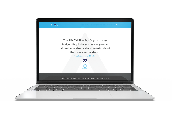 REACH Business Coaching website